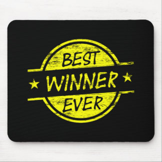Bestes Sieger-überhaupt Gelb Mousepad