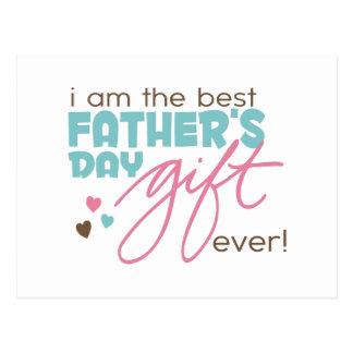 Bestes Vatertags-Geschenk Postkarten