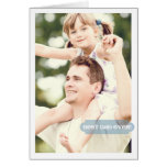 Bestes Vati-überhaupt kundenspezifisches Foto-mode Karten