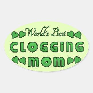 Bestes verstopfendie mamma-Grün der Welt Ovaler Aufkleber