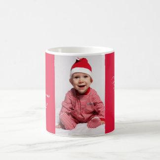 Bestes Weihnachten überhaupt mit Familien-Foto Kaffeetasse