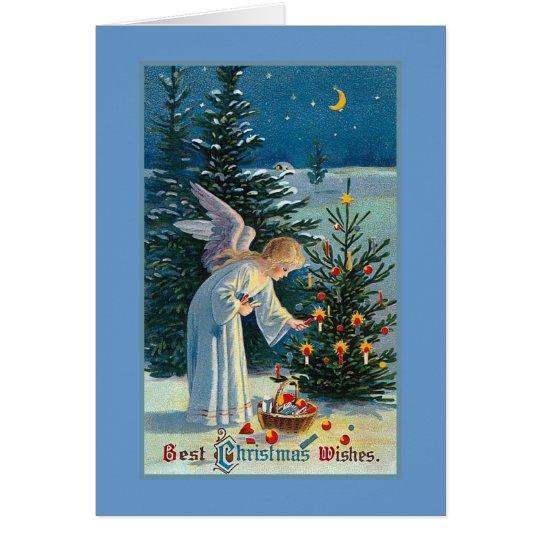 """""""Bestes Weihnachten wünscht"""" Vintages Grußkarte"""