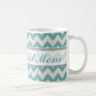 Bestes Zickzack Muster der Welt der Mamma-Mug|Jade Kaffeetasse