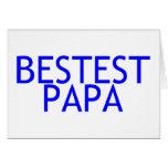 Bestest Papa-Blau Grußkarten