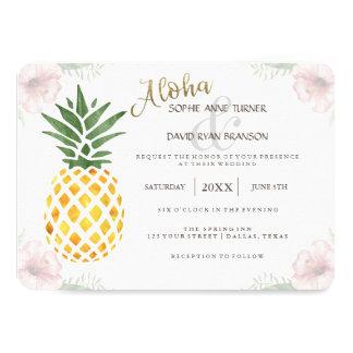 Bestimmungsort-Aloha laden tropische 11,4 X 15,9 Cm Einladungskarte