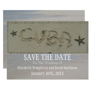 Bestimmungsort-Strand-Hochzeit Kubas Save the Date Karte