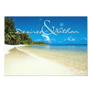 Bestimmungsort-Strand-Hochzeits-Einladung Karte