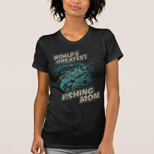 Bestste das Fischen-Mamma der Vintage Welt T-Shirt
