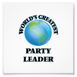 Bestster das Party-Führer der Welt Kunstfoto