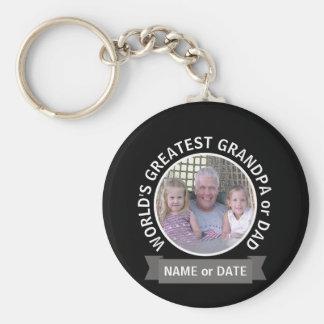 Bestster der Vati-Großvater-kundenspezifische Schlüsselanhänger