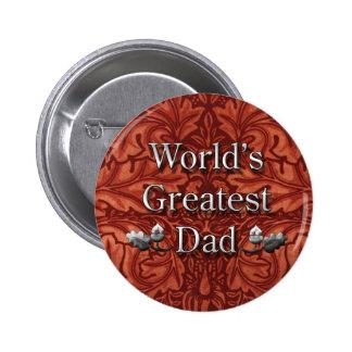 Bestster der Vati-Knopf der Welt für den Vatertag Runder Button 5,1 Cm