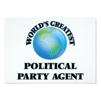 Bestster politischer das Party-Agent der Welt 12,7 X 17,8 Cm Einladungskarte