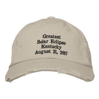 Bestster Solareklipse-Kentucky-Hut-August 21,2017 Bestickte Baseballkappe