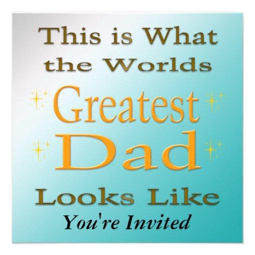 Bestster Vati - der Vatertags-Einladung