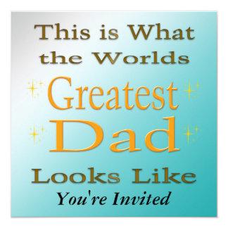 Bestster Vati - der Vatertags-Einladung Quadratische 13,3 Cm Einladungskarte
