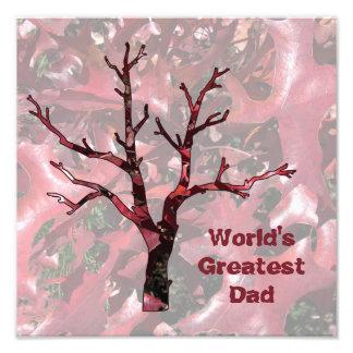 Beststes der Vati-rote Eichen-Blätter der Welt, Fotografischer Druck
