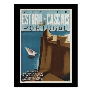 Besuch Estoril-Cascais Portugal Postkarte