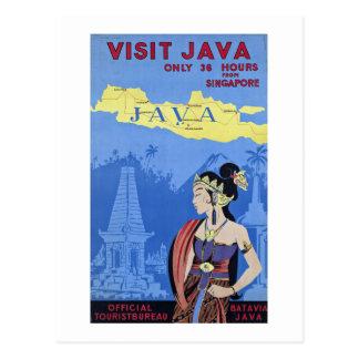Besuch Java Postkarte