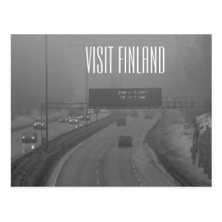 Besuchs-Finnland-Postkarte Postkarte