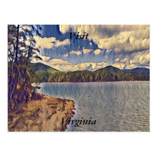 Besuchs-Virginia-Postkarte 2 Postkarte