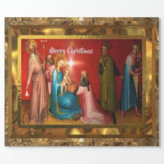 Besuchsbaby-Jesus-Weihnachten (15 Fuß) glatt Geschenkpapier