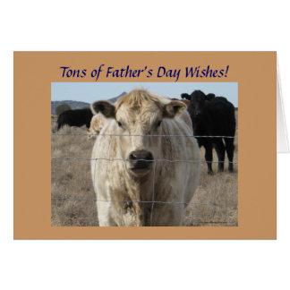 Bétail ou ferme de fête des pères cartes de vœux