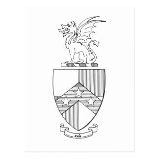 Betatheta-PU-Wappen Postkarte