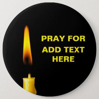 Beten Sie für addieren Text Runder Button 15,3 Cm