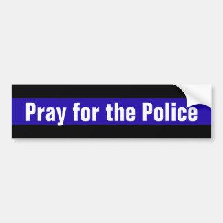 Beten Sie für die Polizei Autoaufkleber
