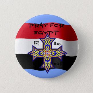 Beten Sie für koptisches Kreuz Ägyptens - spendet Runder Button 5,7 Cm