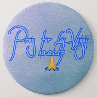 Beten Sie für Las Vegas Runder Button 15,3 Cm