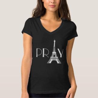Beten Sie für Paris-Eiffelturm T-Shirt