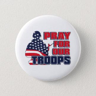 Beten Sie für unsere Truppen Runder Button 5,7 Cm