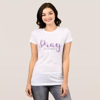 Beten Sie lila Glitter-T - Shirt