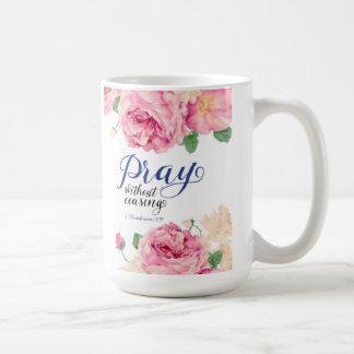 Beten Sie ohne aufhörenden Klassiker 15 Unze. Kaffeetasse
