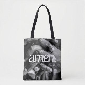 beten Sie. Religiöse Seitendruck des Entwurfs-2 Tasche