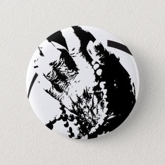 beten Sie Schmutz-Labradorhände Runder Button 5,7 Cm