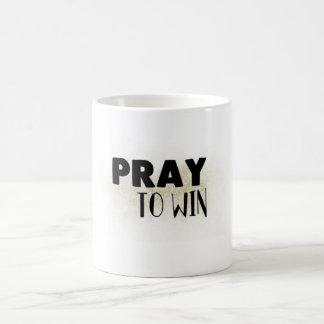 Beten Sie, um Tasse zu gewinnen