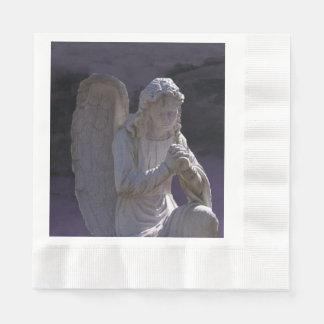 Betender friedlicher christlicher Steinengel Serviette