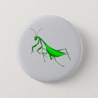 Betender Mantis auf Pinback Knopf Runder Button 5,1 Cm