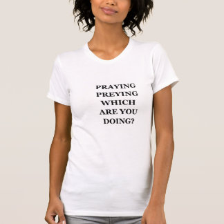 Betender Preying grundlegender amerikanischer T-Shirt