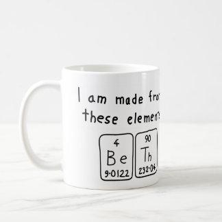 Beth Namen-Tasse periodischer Tabelle Kaffeetasse