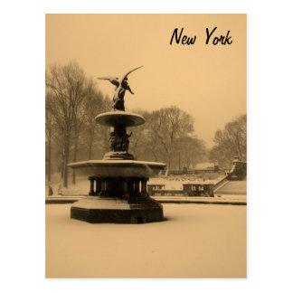 Bethesda-Brunnen im Winter Postkarte