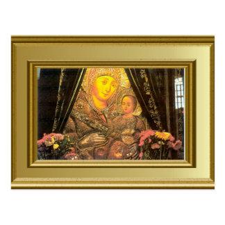 Bethlehem, Ikon von Mary und von Jesus Postkarte