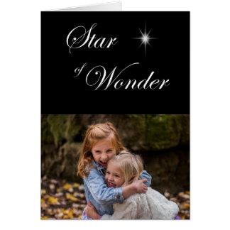Bethlehem-Stern des Wunder-gotischen Schwarzen Karte