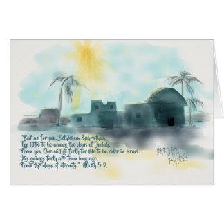Bethlehem-Weihnachten Karte