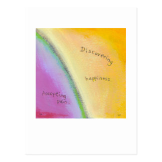 Betitelt:  Balance - Annahme und Glück Postkarte