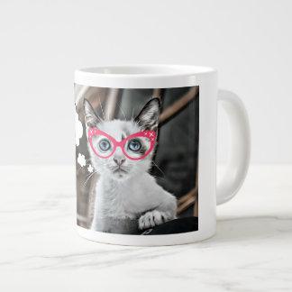 Betonte heraus Kaffee-liebevolle Katze Jumbo-Tasse