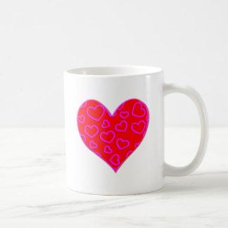 betonten rosa Herzen 3D Herz Tasse