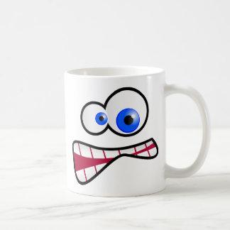 Betontes Gesicht Kaffeetasse